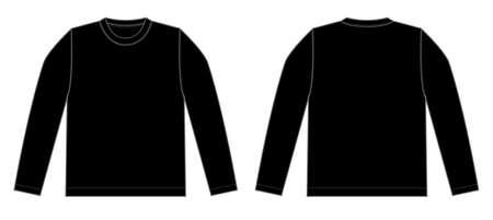 T-shirt met lange mouwen (zwart)