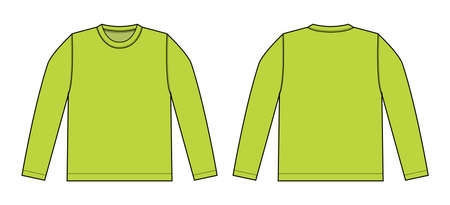 Longsleeve t-shirt illustration (lime green)