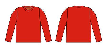 Longsleeve t-shirt illustration (red)