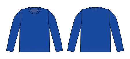 Longsleeve t-shirt illustration (blue)