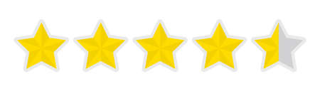five-star rating icon (4.5)