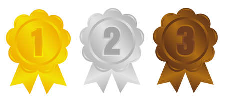 Ranking medal icon illustration set. Illustration