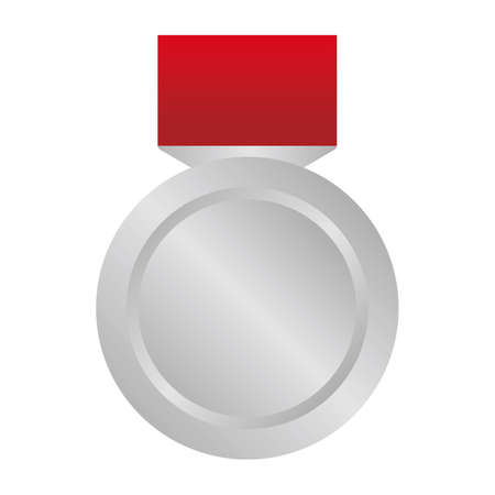 Silver medal icon illustration