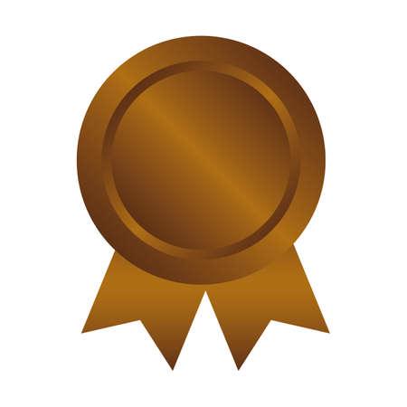 Bronze medal icon illustration Illustration