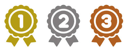 Ranking medal icon. Vectores