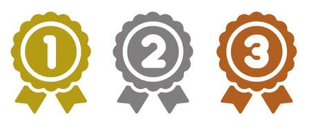 Ranking medal icon.  イラスト・ベクター素材
