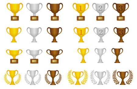 Trophy cups icon.
