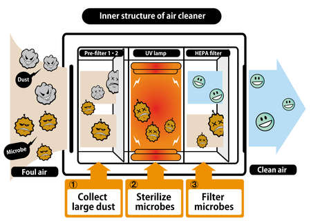 Inner structure of air cleaner.