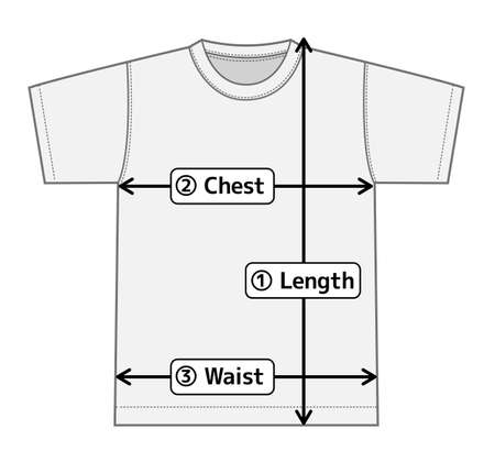 T-shirt illustration for size chart