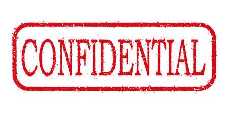 Stamp Confidential for business illustration. Illustration