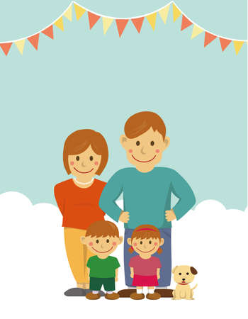 Family illustration / letter size (no text)