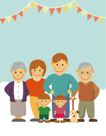 Family illustration and with grandparents  letter size (no text)