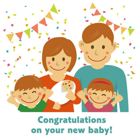 Congratulations on your new baby! illustration