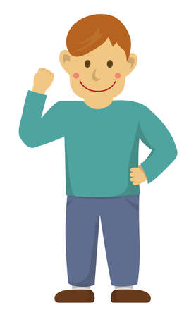 Man's action gesture (motivation)