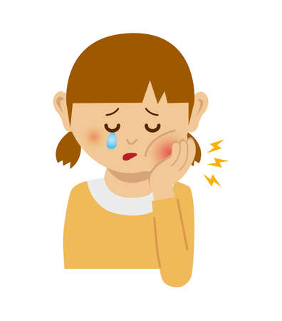 Girl with toothache illustration. Imagens - 91796357