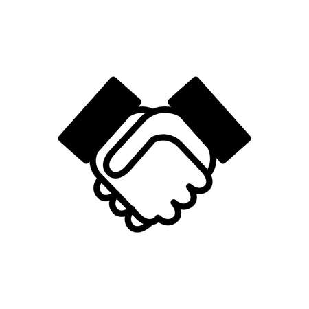 handshake icon Vector illustration isolated on white background.