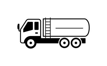 A tanker truck illustration  イラスト・ベクター素材