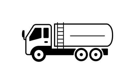 A tanker truck illustration Ilustração