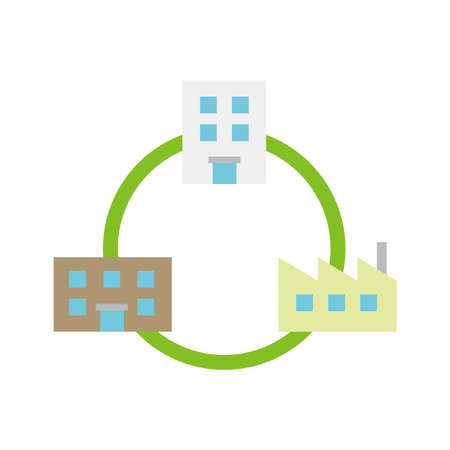 Factory network icon.
