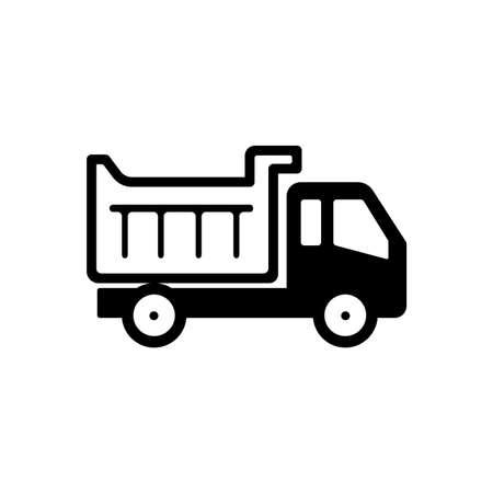A dump truck icon 向量圖像