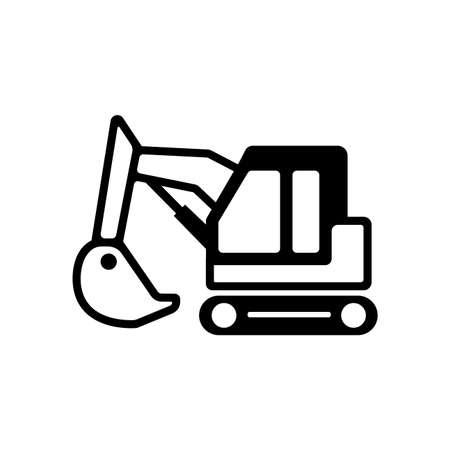An excavator icon