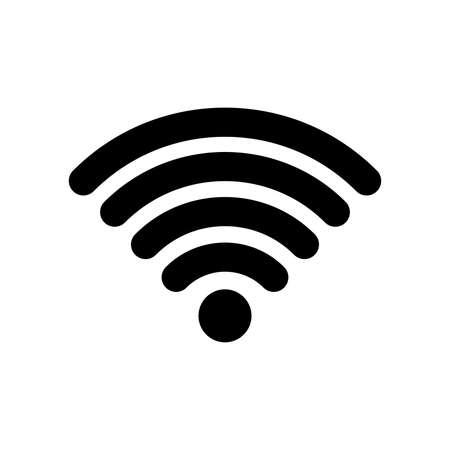 Wi-Fi, radio wave communication icon Vectores