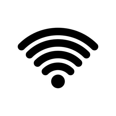 Wi-Fi, radio wave communication icon Illusztráció