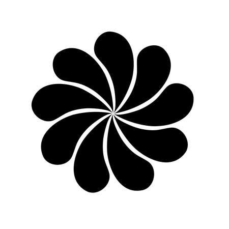 Japanese flower shape icon