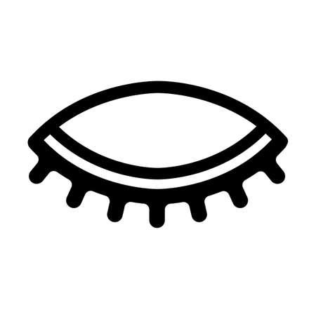 닫힌 된 눈 아이콘입니다.