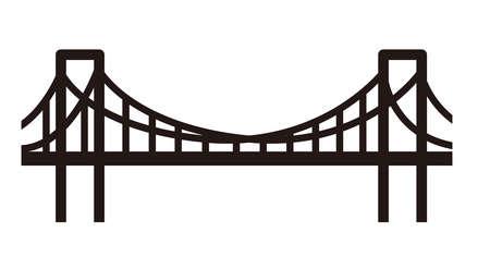 Semplice illustrazione del ponte Archivio Fotografico - 91977485