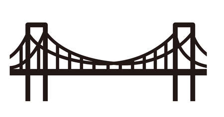 simple bridge illustration Ilustracja