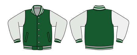 Illustration of varsity jacket (green) Ilustracja
