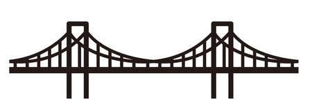 Eenvoudige brugillustratie. Stock Illustratie