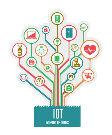 IoT (internet of things) image illustratin / tree