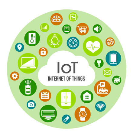 IoT (internet of things) image illustration / circle Vectores