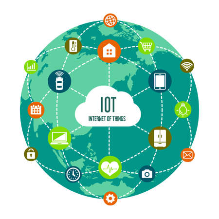 IoT (internet of things) image illustration