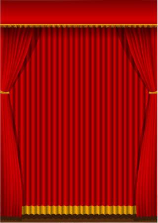 ●赤いカーテン背景イラスト(縦) 写真素材 - 93451654
