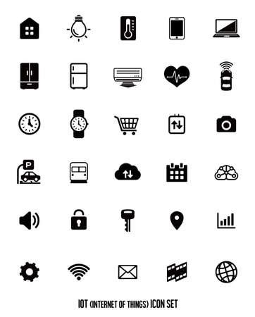 IoT (internet of things) icon set [vector] illustration. Фото со стока - 93451655