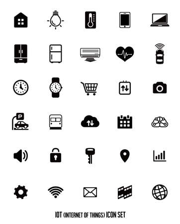 IoT (internet of things) icon set [vector] illustration.