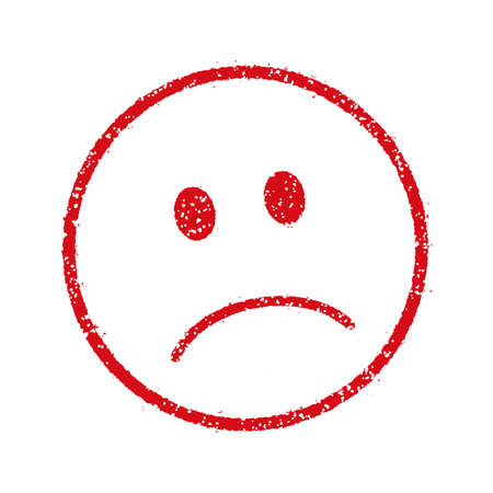 emoticonsface stamp icon (grimace, ugly, sad)