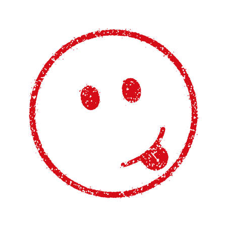 emoticonsface stamp icon (sticking, tongue) Illustration