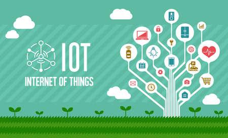 IoT (internet of things) illustration image (tree)
