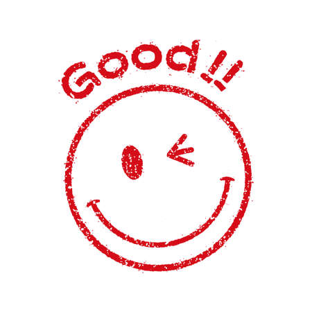 Stamp style smile Clipart Graphics icons (Good!!!)  イラスト・ベクター素材