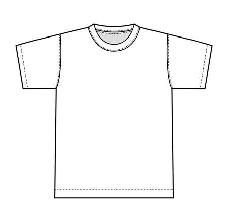 White t-shirt illustration, front only