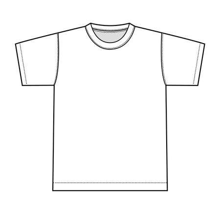 White t-shirt illustration, front only