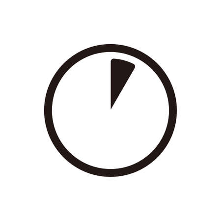 Time progression and time range icon. 5 seconds, 5 minutes and 1 hour. Illustration