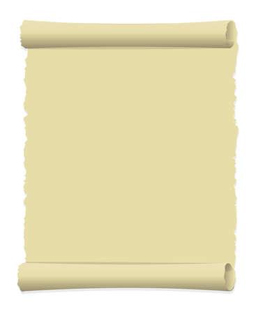 Vieux papier déchiré illustration (bord recourbé) / portrait Vecteurs