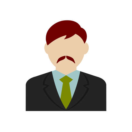 Business man avatar illustration