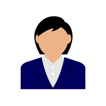 Business woman avatar illustration