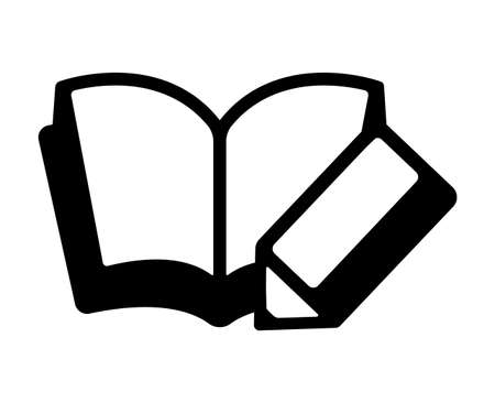 Notebook and pencil icon